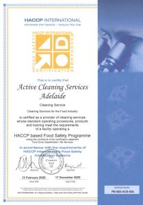 Commercial Cleaning HACCP